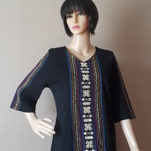 Patio Casual by Cabernet Egyptian shift dress,sz M